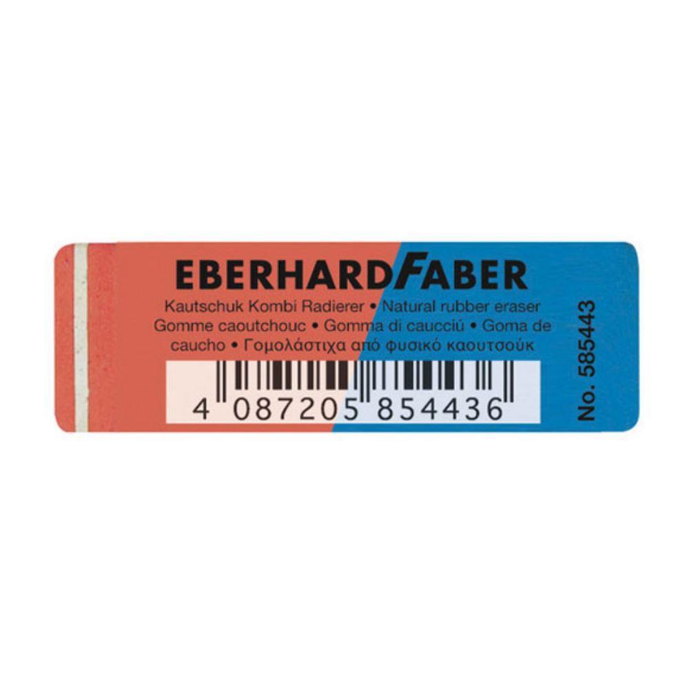 Γόμα Eberhard Faber μπλε-κόκκινη μεγάλη