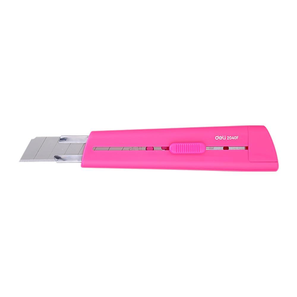 Κοπίδι πλαστικό μικρό Deli Rio 8 cm ροζ 2038P