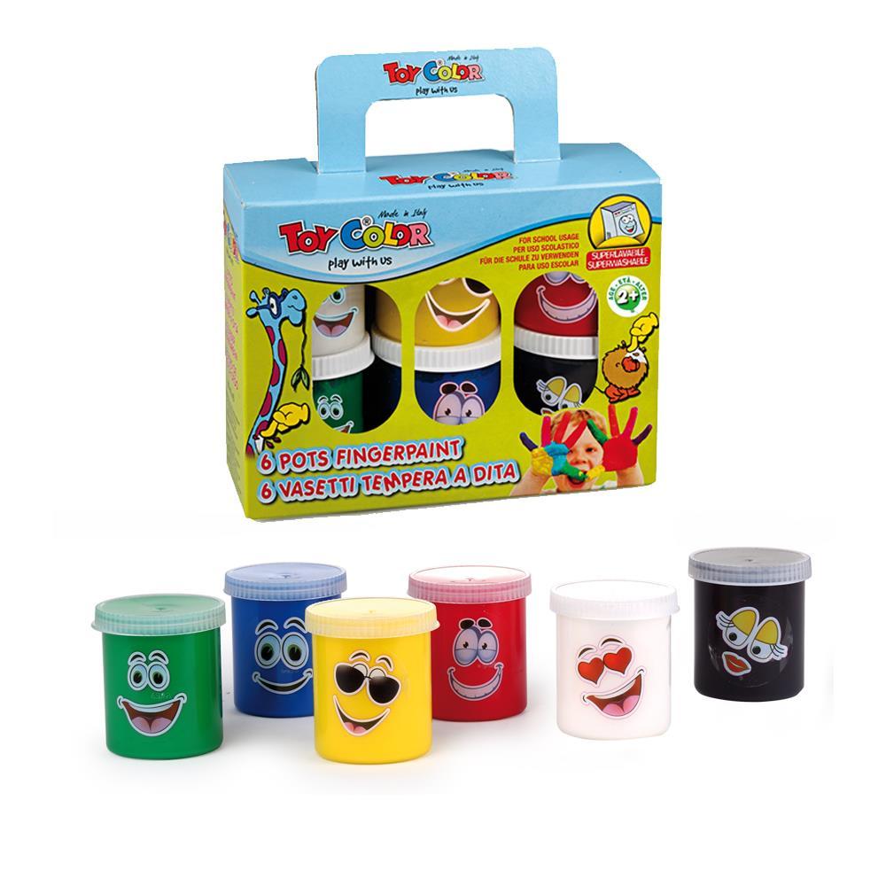 Δακτυλομπογιές Toy Color super washable 6x80 ml