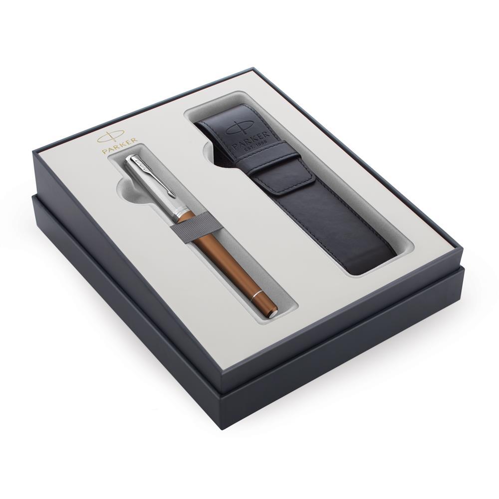 Σετ Parker Urban Premium Orange CT πένα με θήκη δώρο