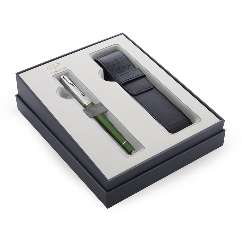 Σετ Parker Urban Premium Green CT πένα με θήκη δώρο