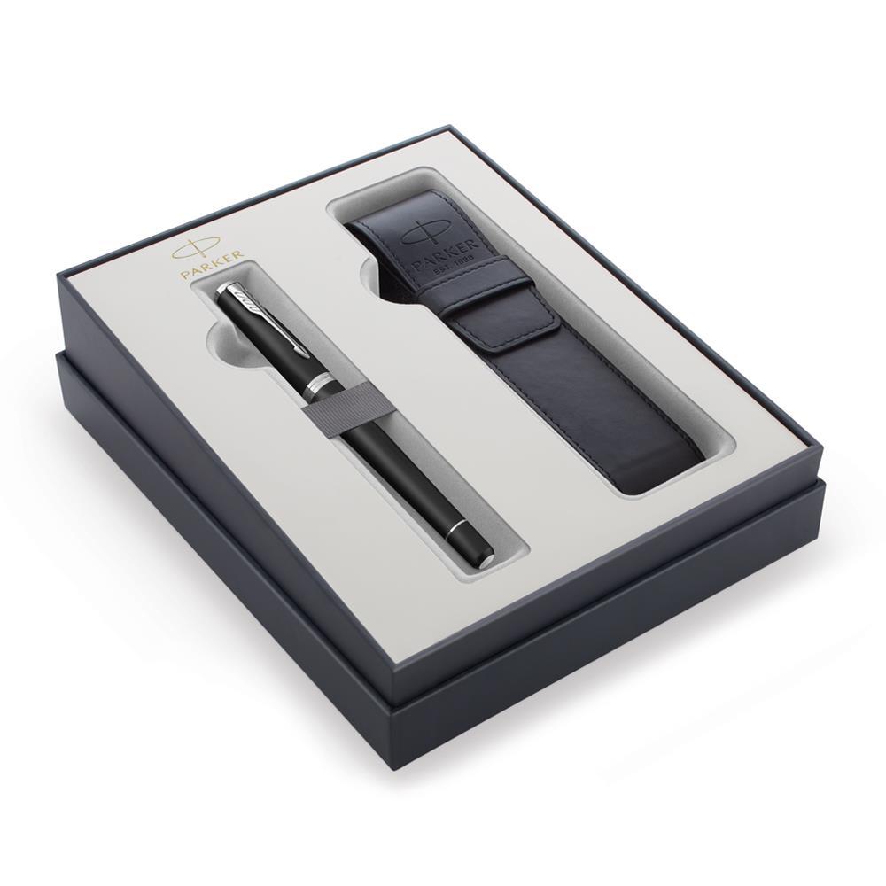 Σετ Parker Urban Core Muted Black CT πένα με θήκη δώρο
