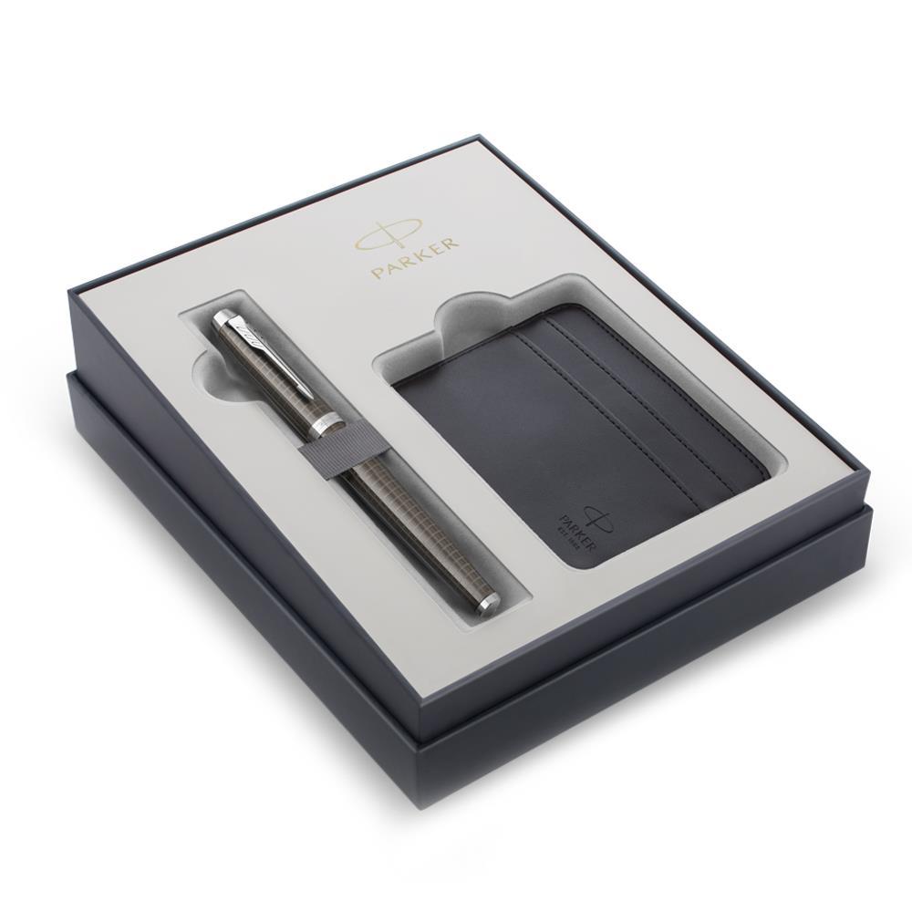 Σετ Parker IM Premium D. Espresso CT πένα με θήκη για κάρτες δώρο