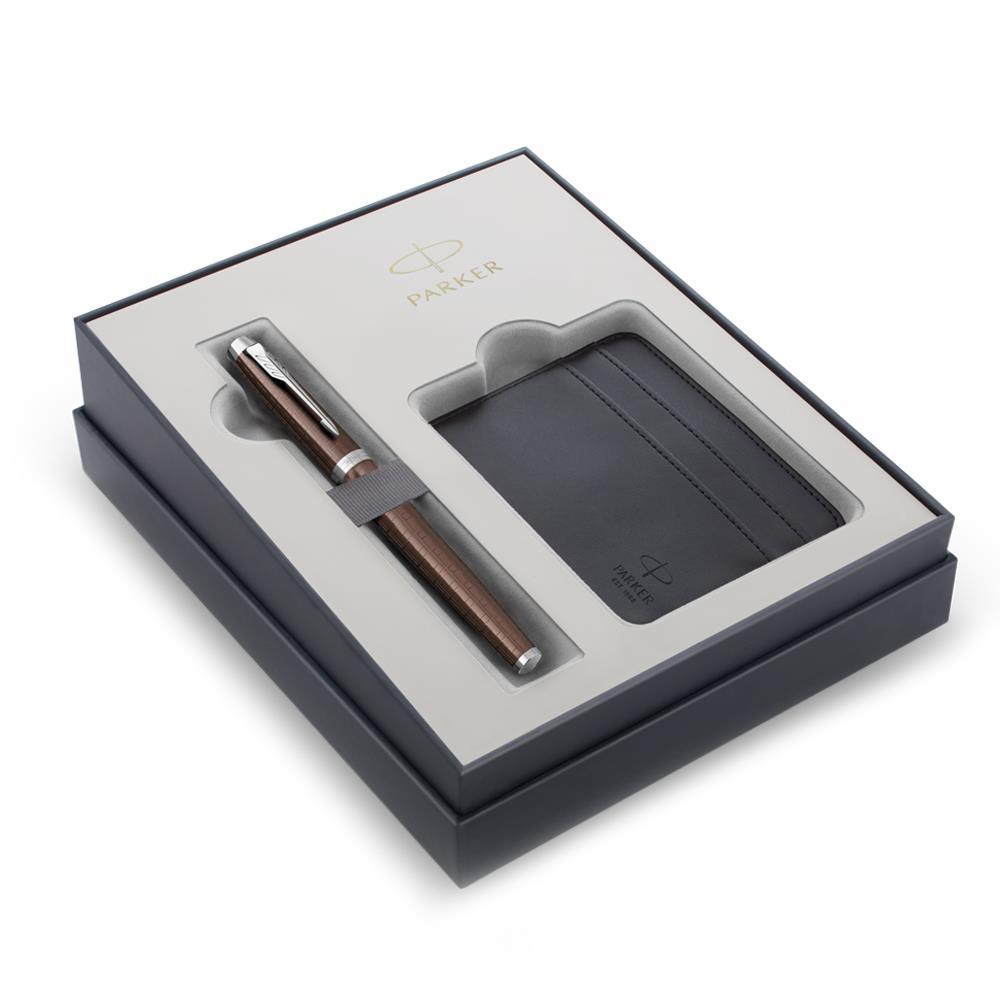 Σετ Parker IM Premium Brown CT μαρκαδοράκι με θήκη για κάρτες δώρο