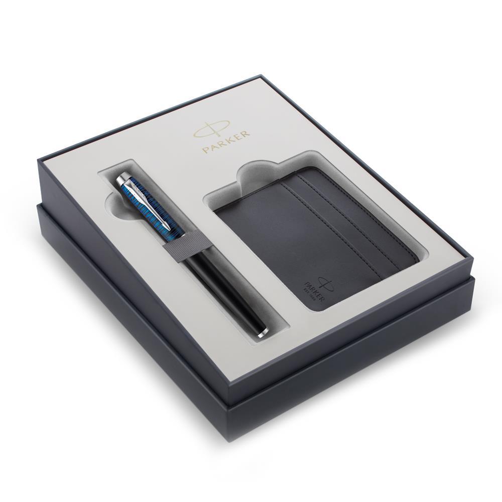 Σετ Parker IM Special Edition Blue Origin CT πένα με θήκη για κάρτες δώρο