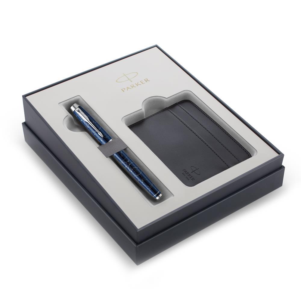 Σετ Parker IM Special Edition Midnight Astral CT πένα με θήκη για κάρτες δώρο