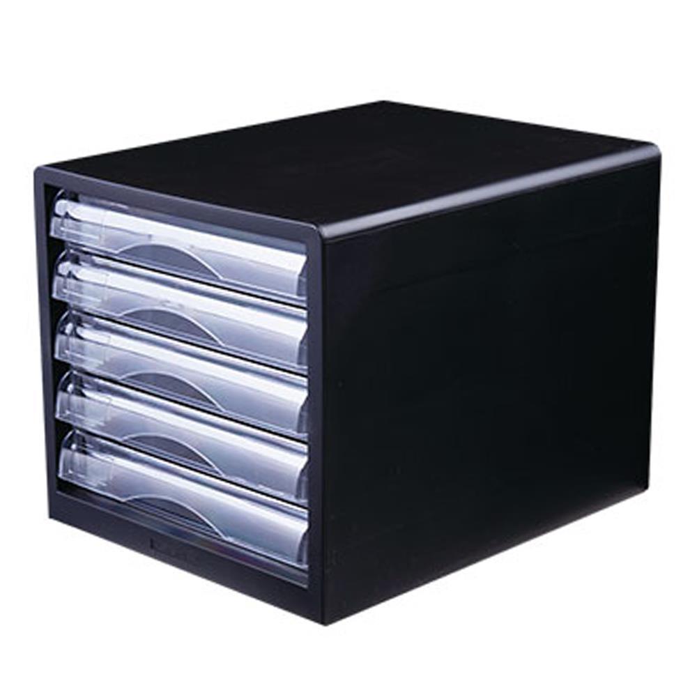 Συρταριέρα πλαστική 5 θέσεων Deli μαύρη