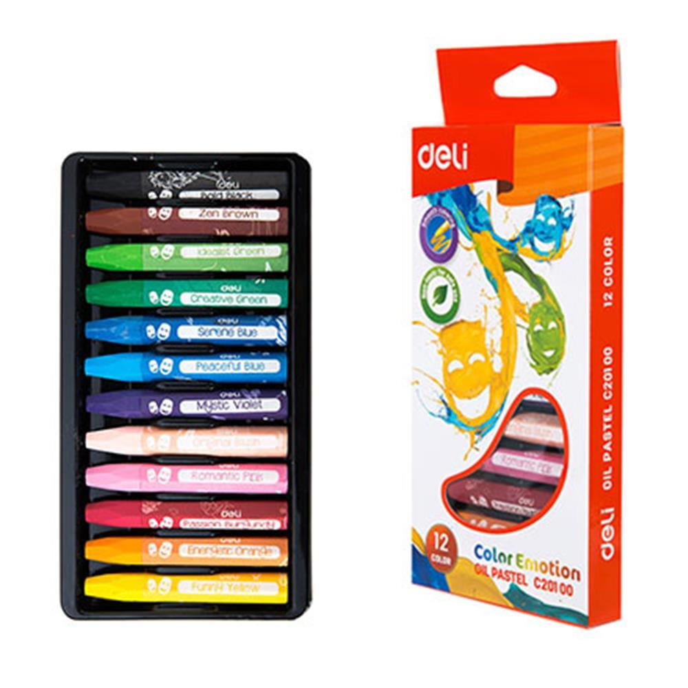 Λαδοπαστέλ Deli color emotion 12 τεμάχια
