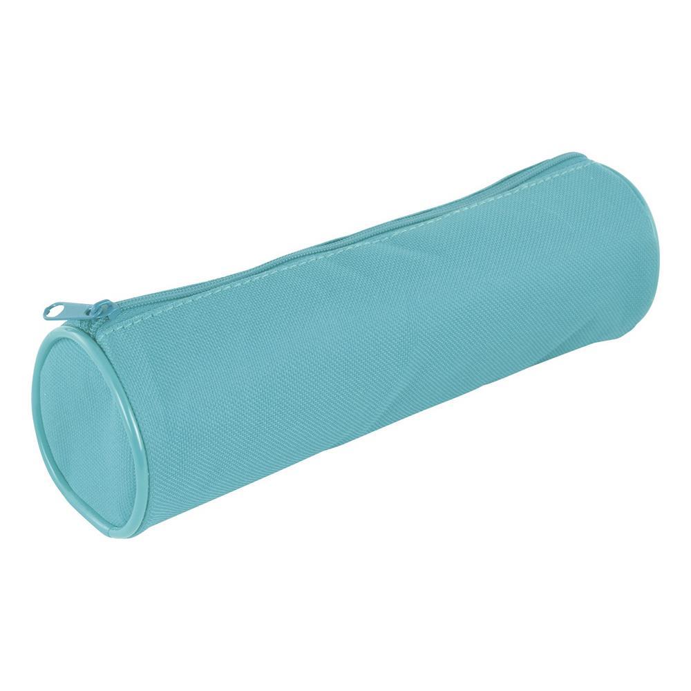 Κασετίνα βαρελάκι με φερμουάρ Stylex 47148 γαλάζια