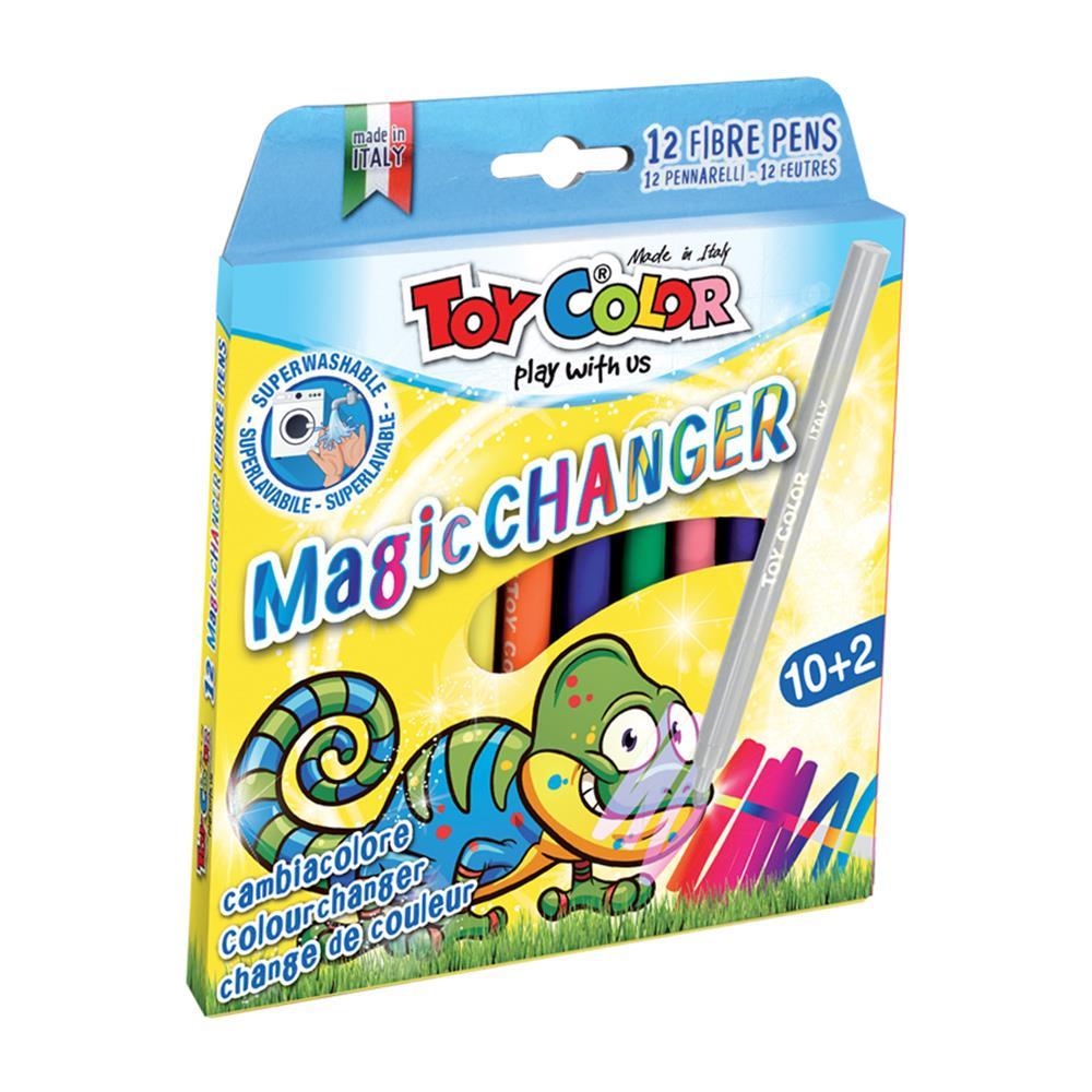 Μαρκαδόροι Toy Color Magic Changer λεπτοί 12 τεμ.