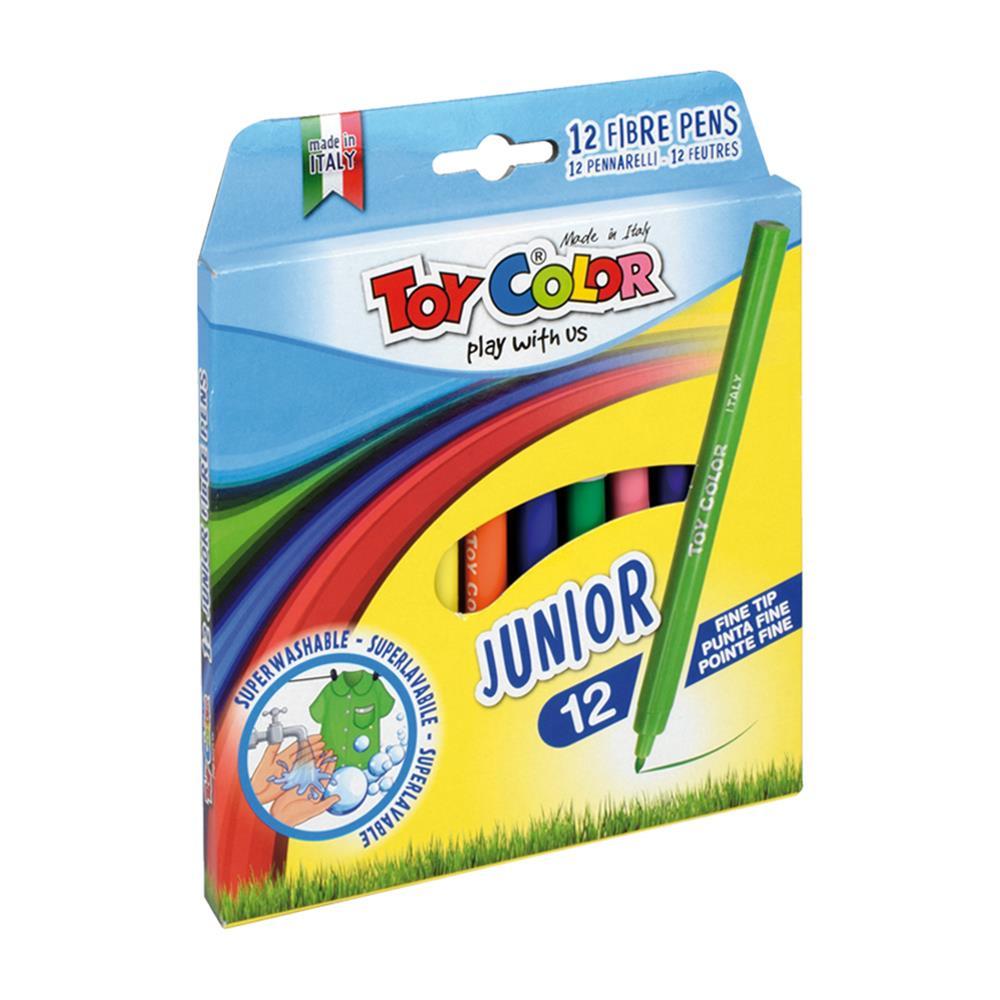 Μαρκαδόροι Toy Color Junior λεπτοί 12 τεμ.