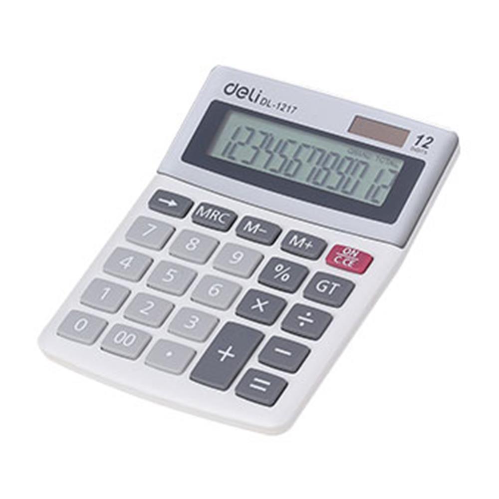 Αριθμομηχανή Deli 1217 12 ψηφίων γκρι
