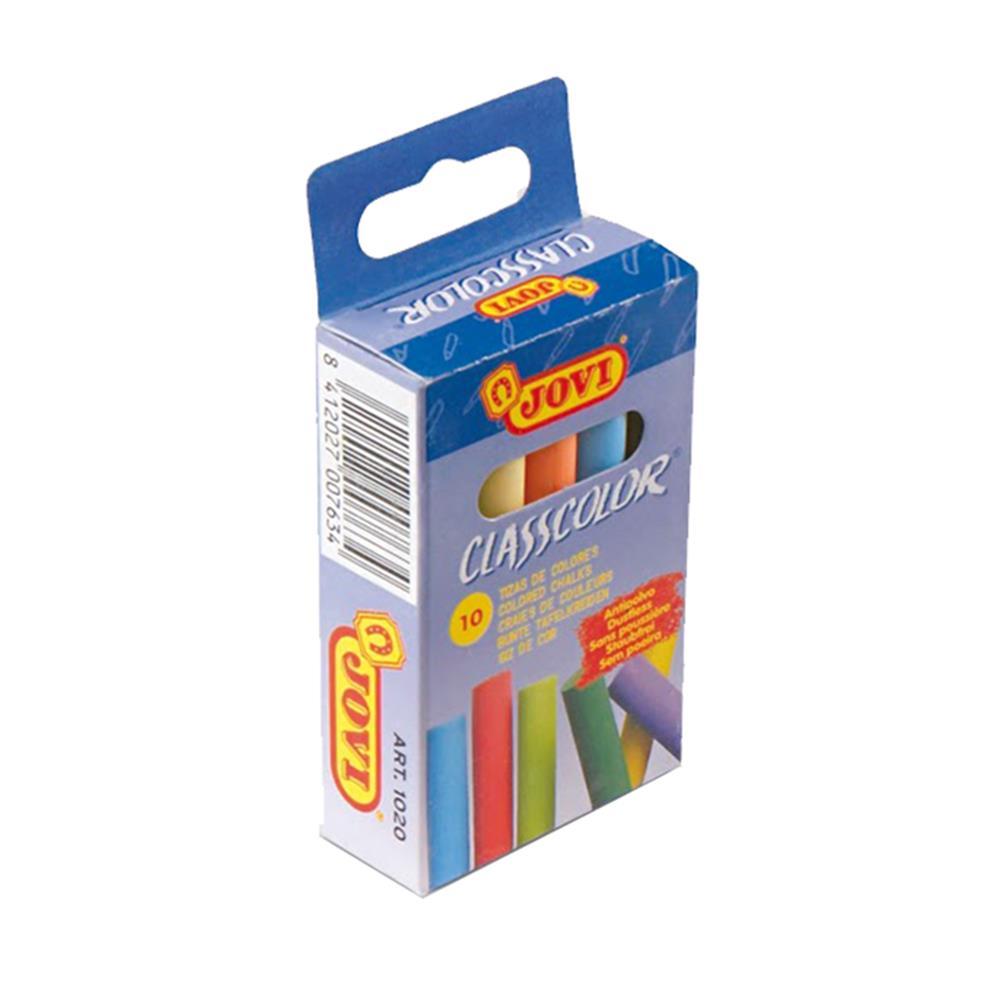 Κιμωλίες χρωματιστές Jovi 10 τεμ
