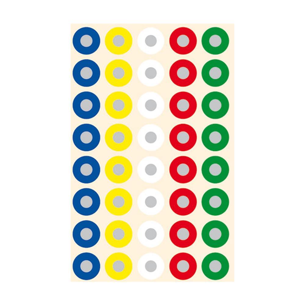 Αυτοκόλλητα bsb ροδέλες 13 mm χρωματιστές 5Φ