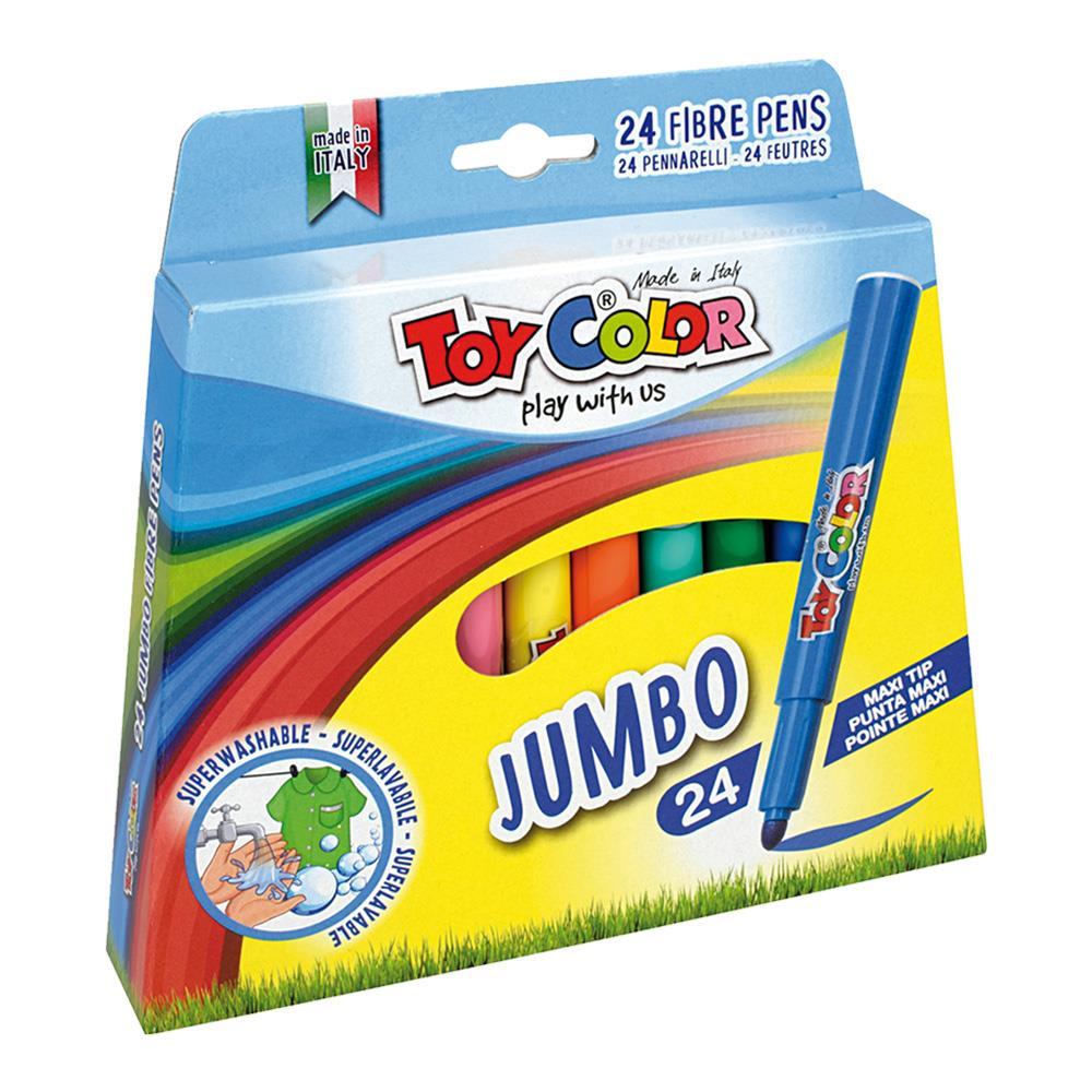 Μαρκαδόροι Toy Color Jumbo χοντροί 24 τεμ.