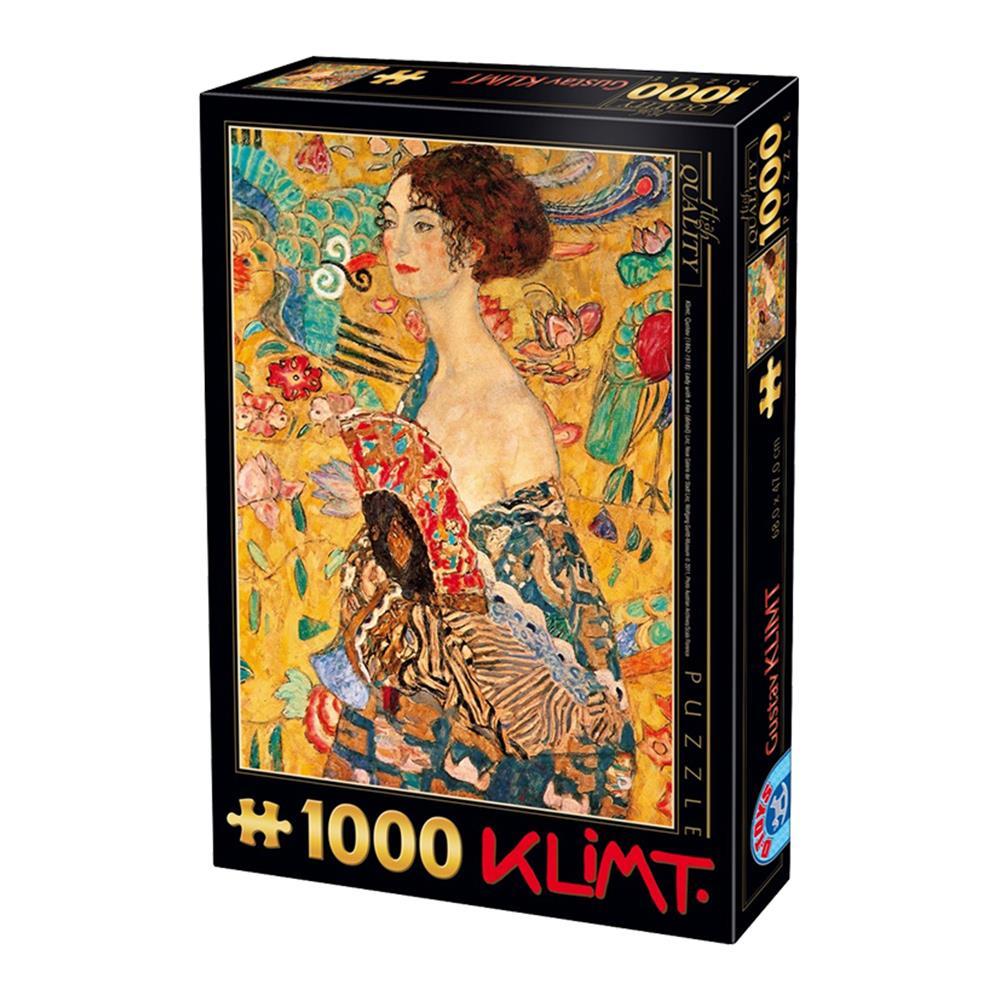 Παζλ D-Toys Klimt Lady With A Fan 68x47cm 1000 κομ.