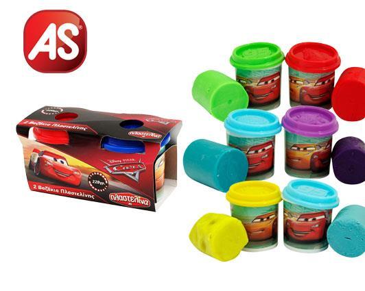 Πλαστελίνη AS Cars κουτί 2 τεμάχια x114gr