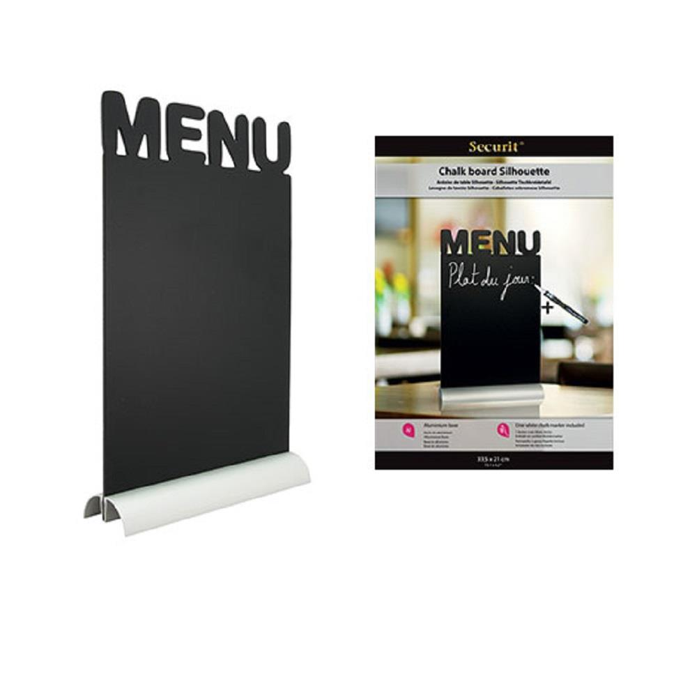 Πίνακας κιμωλίας Securit menu 34,2x21cm με βάση και μαρκαδόρο