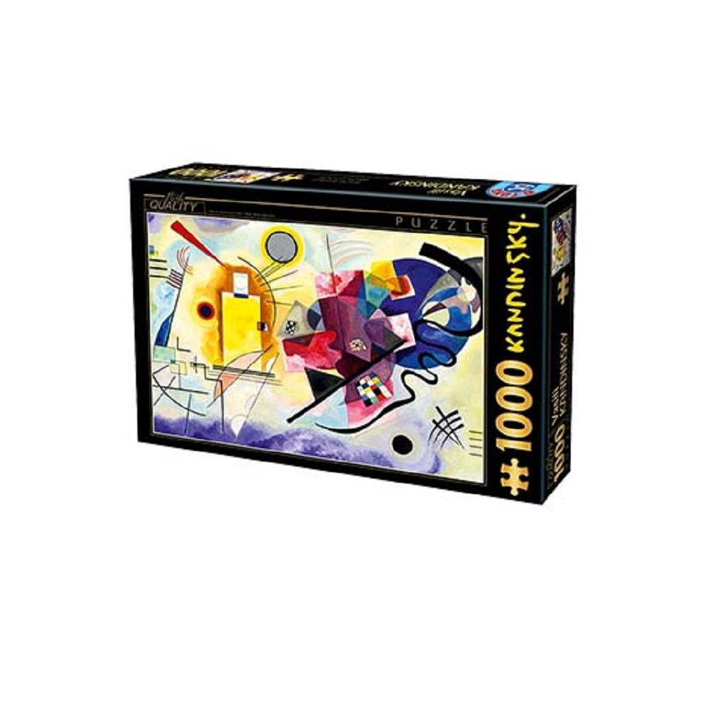 Παζλ D-Toys Kandinsky Yellow-Red-Blue 68x47cm 1000 κομ.