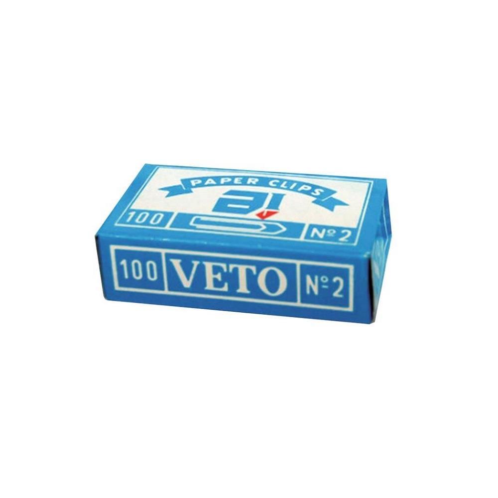 Συνδετήρες Veto Νο 2 μεταλλικοί
