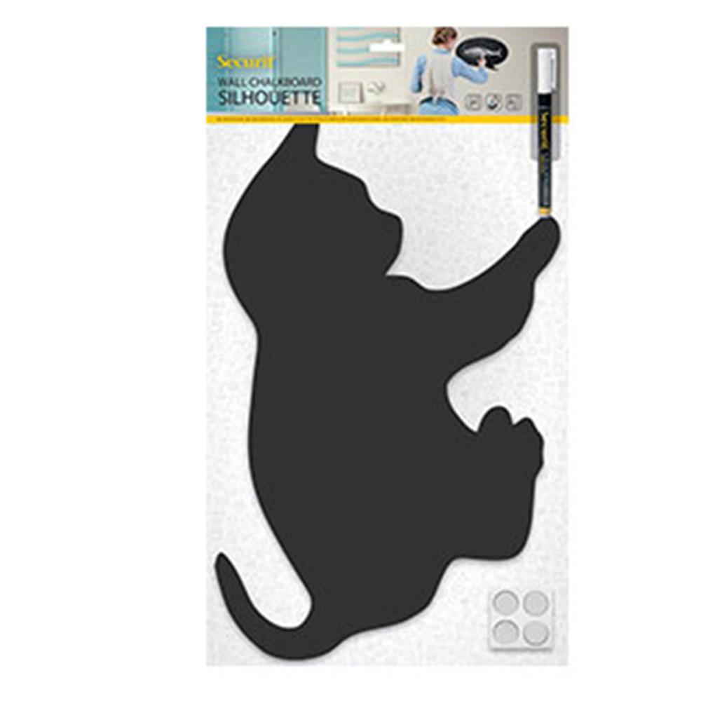 Πίνακας υγρής κιμωλίας Securit 28,8x48 cm γάτα με μαρκαδόρο