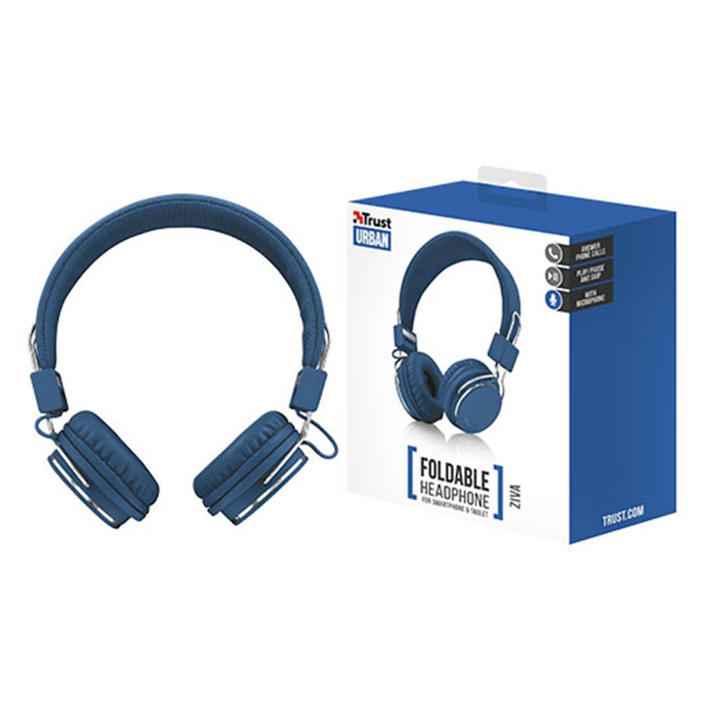 Ακουστικά ενσύρματα Trust Ziva μπλε για κινητό/tablet