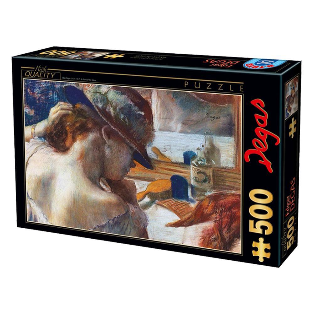 Παζλ D-Toys Degas In Front Of The Mirror 48x34cm 500 κομ.