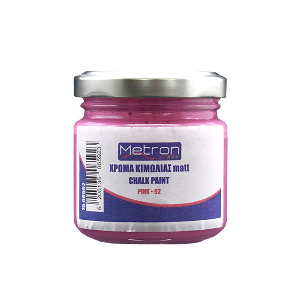 Χρώμα κιμωλίας Metron 110 ml pink