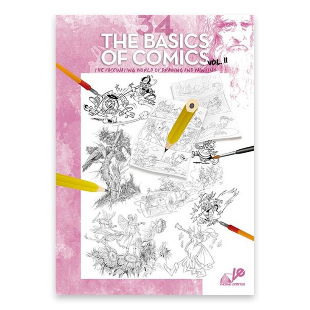 Βιβλίο ζωγραφικής Leonardo 34 the basic of comics vol.2