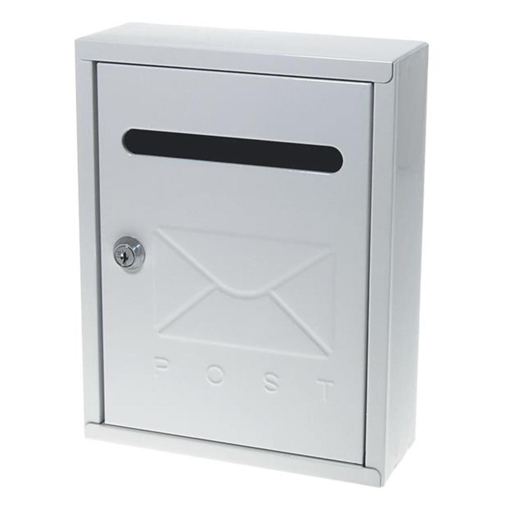 Γραμματοκιβώτιο μεταλλικό 26x20x7,5 cm λευκό