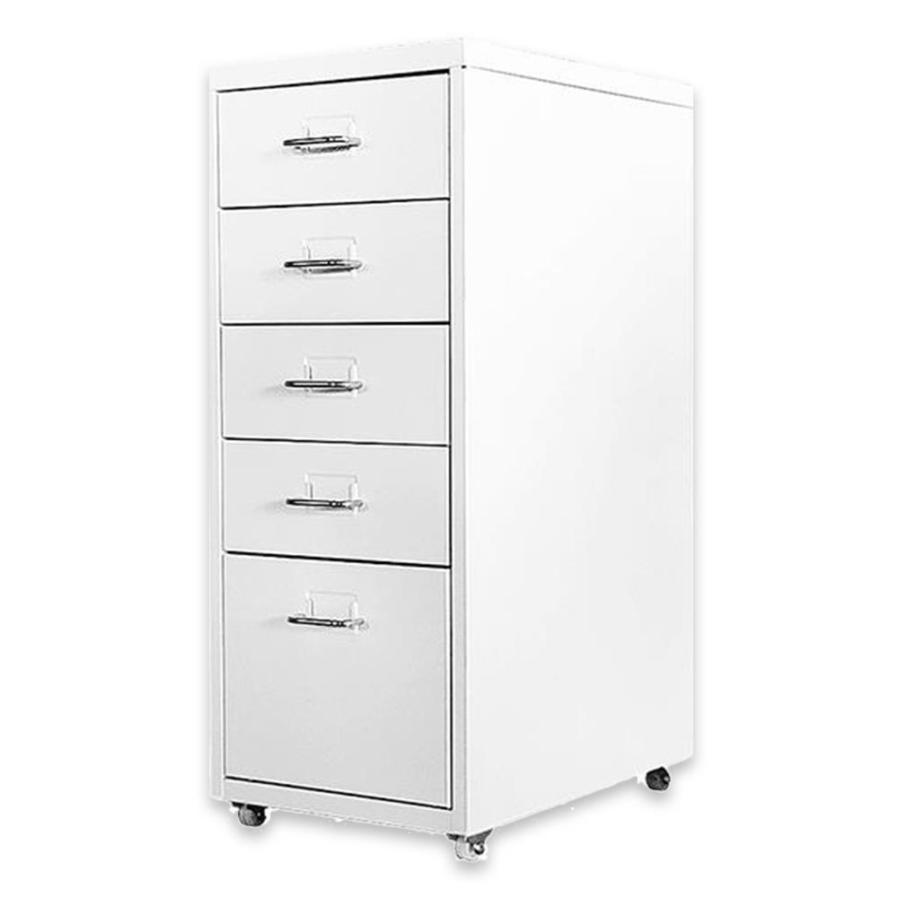 Συρταριέρα μεταλλική 5 θέσεων Nextdeco λευκή