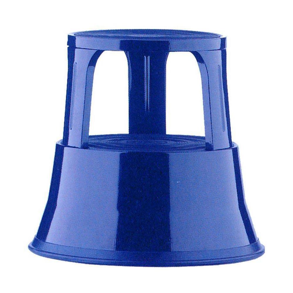 Σκαμπό-σκαλοπάτι μεταλλικό με ρόδες μπλε 43x29x45 cm