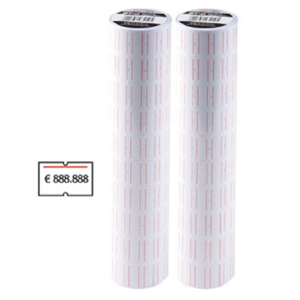 Ετικέτες ετικετογράφου 21x12/6000 κόκκινη γραμμή