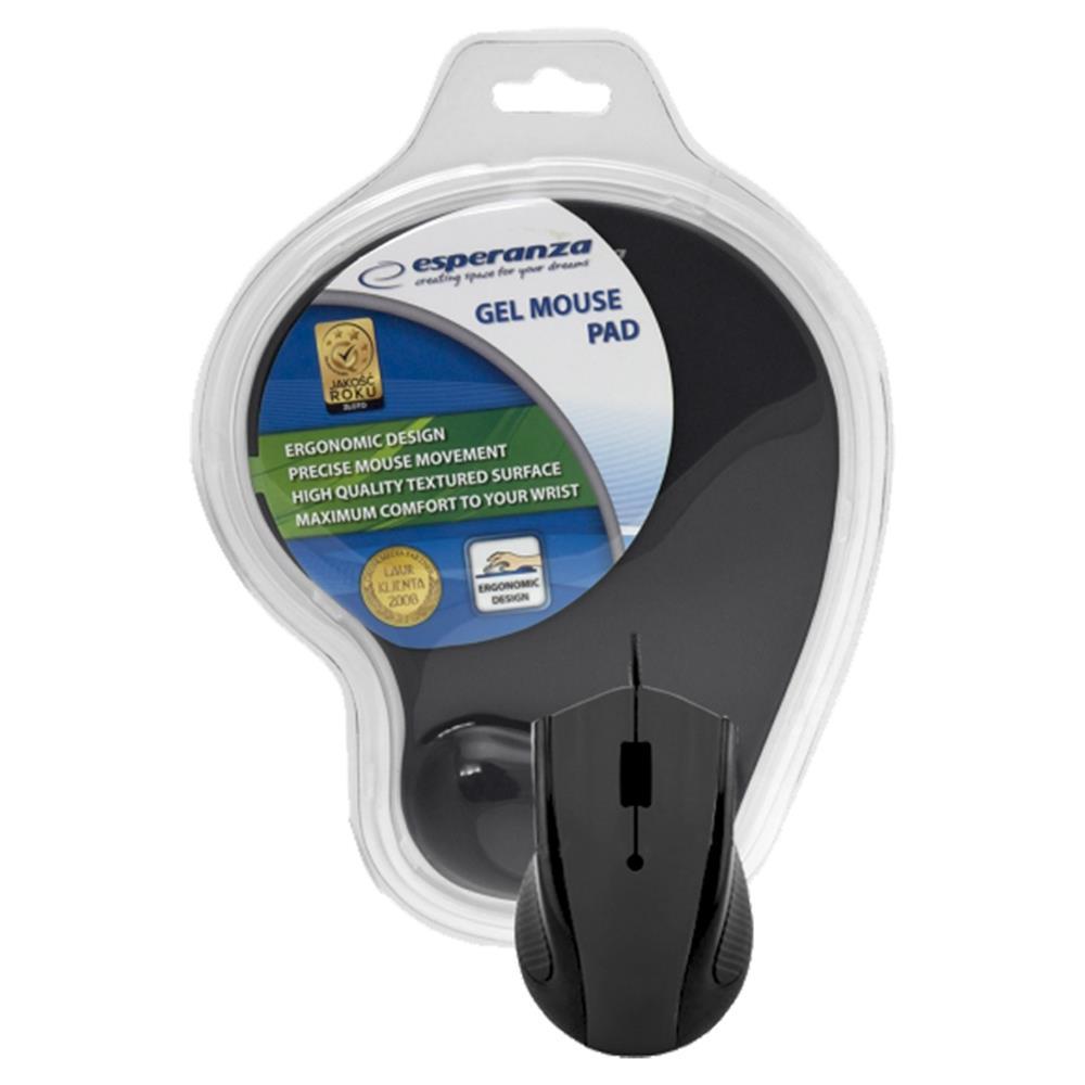 Ποντίκι ενσύρματο Esperanza EM-125K με mousepad gel