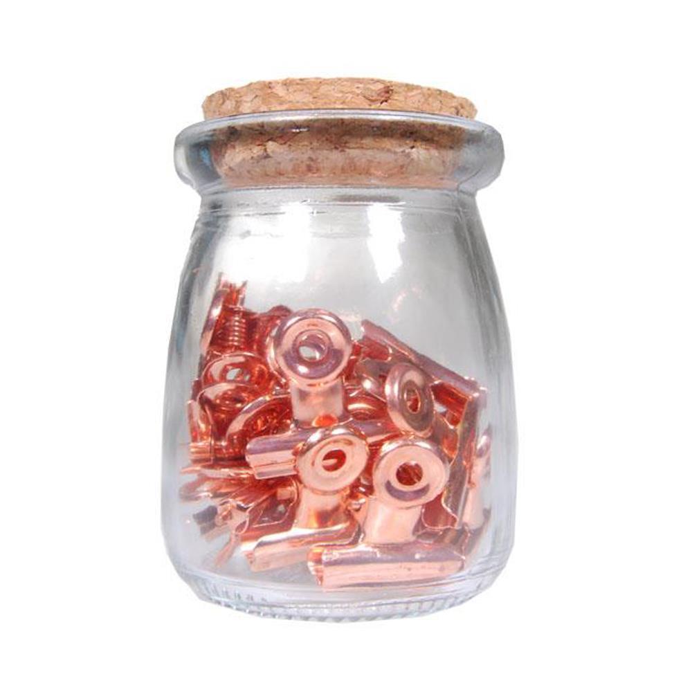 Πιάστρες λαχείου Next 30mm ροζ χρυσό 20 τεμ.