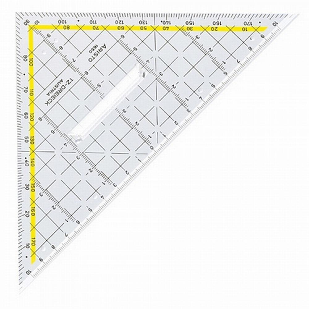 Τρίγωνο γεωδαιτικό Aristo 1650 μοιρογνωμόνιο και λαβή