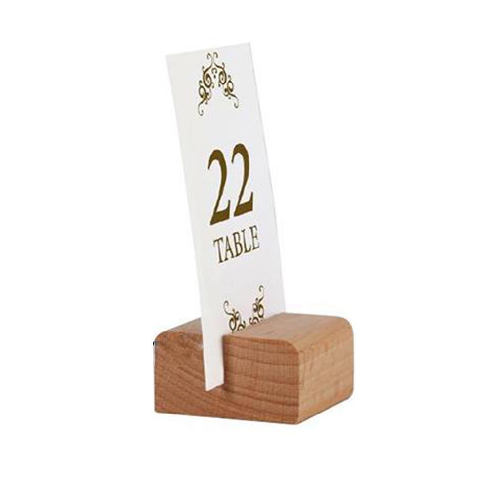 Επιτραπέζια ξύλινη βάση 2 όψεων για μενού 4x4 cm