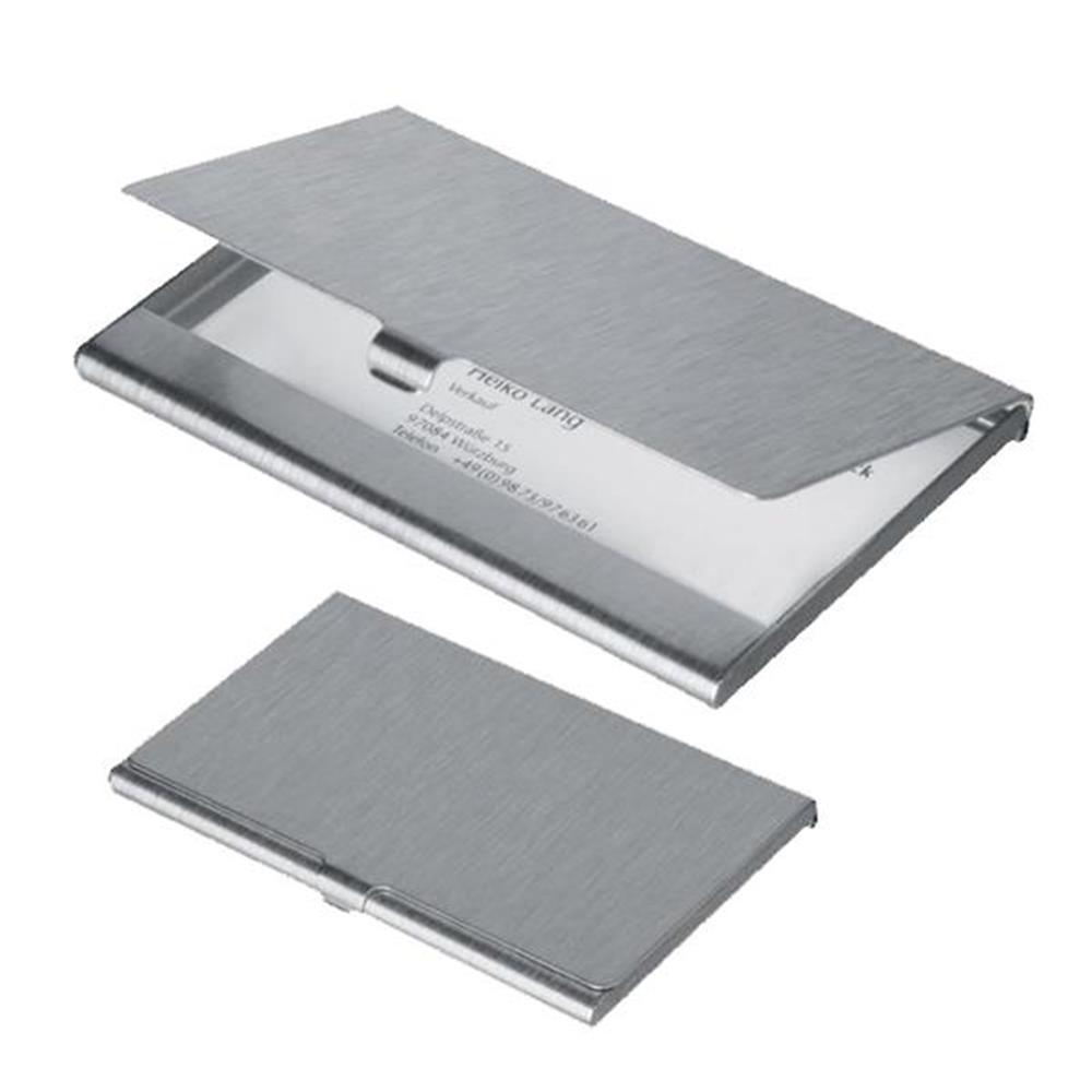 Καρτοθήκη αλουμινίου 9,3x5.7x0.5 cm