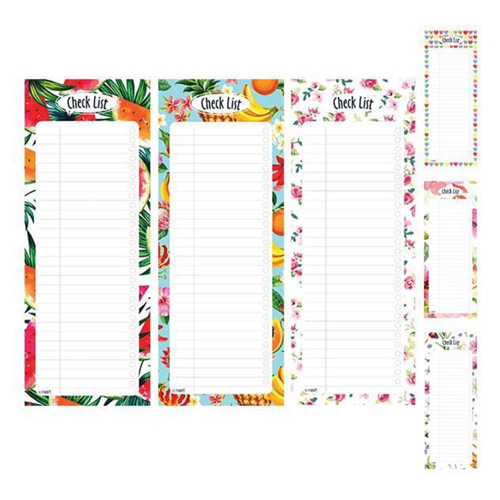 Σημειωματάριο check list με μαγνήτη Next 8x20 50 φύλλα