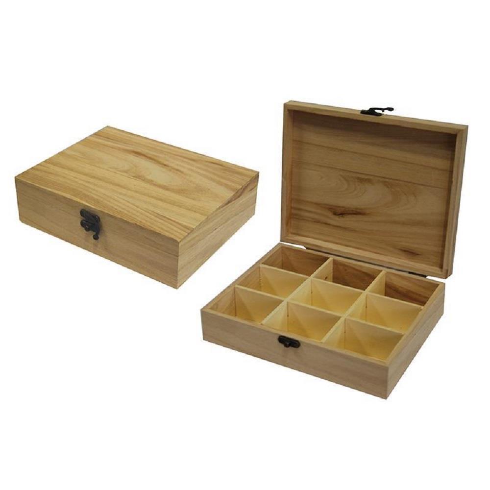 Κουτί ξύλινο Next 23,5x19x6,5 cm θήκες