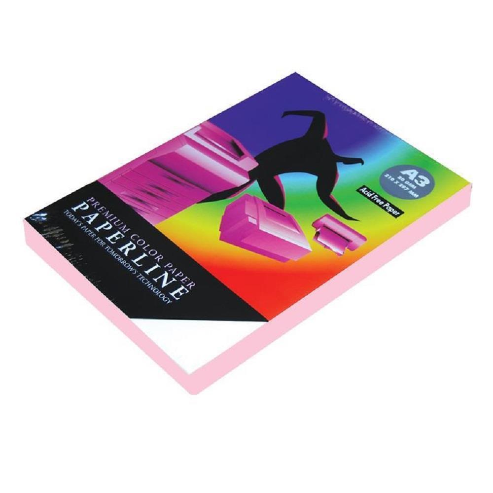 Χαρτί Α3 Paperline 80gr 500φ ροζ