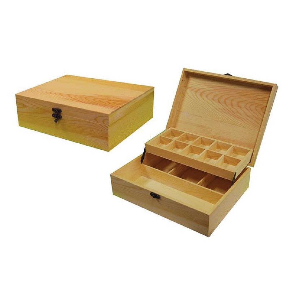 Κουτί ξύλινο Next 22x28x9 cm επίπεδα-θήκες