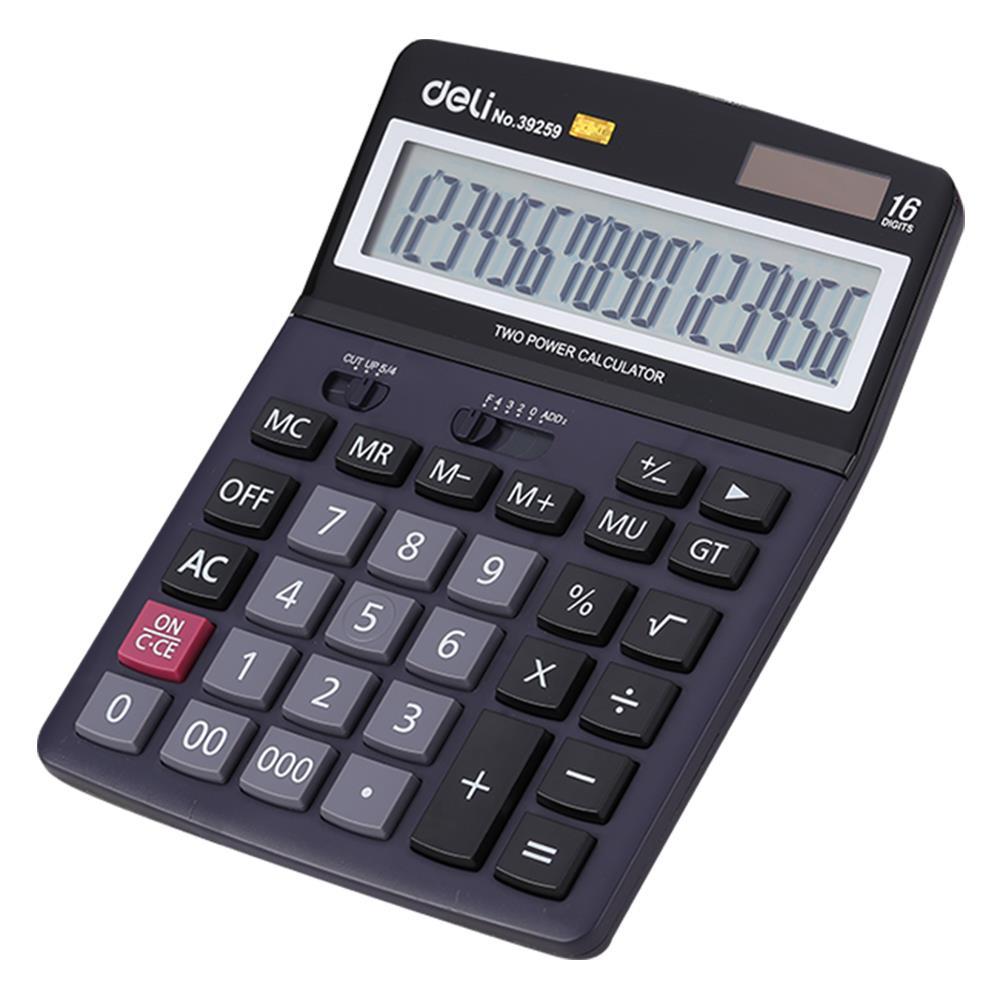 Αριθμομηχανή Deli E39259 16 ψηφίων μαύρη