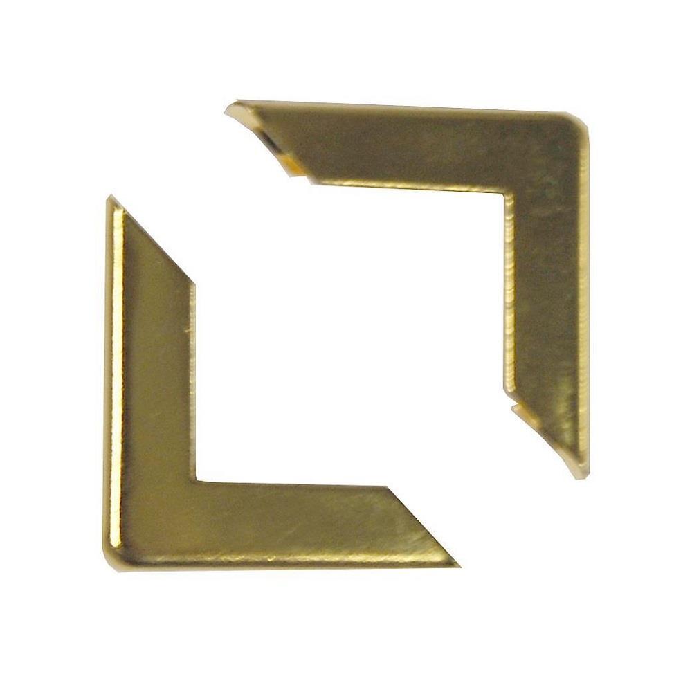 Γωνίες προστασίας μεταλλικές 100 τεμ χρυσές
