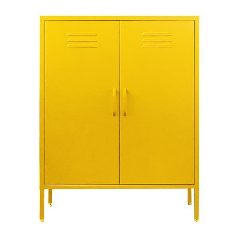 Ντουλάπα Nextdeco μεταλλική δύο φύλλων 102x80x40 cm κίτρινη