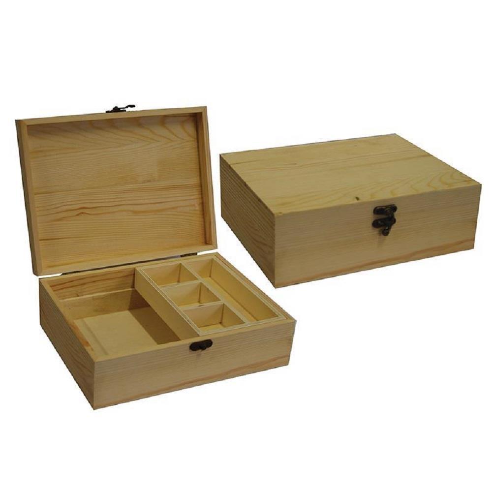 Κουτί ξύλινο Next 25x19,2x8,5 cm θήκες