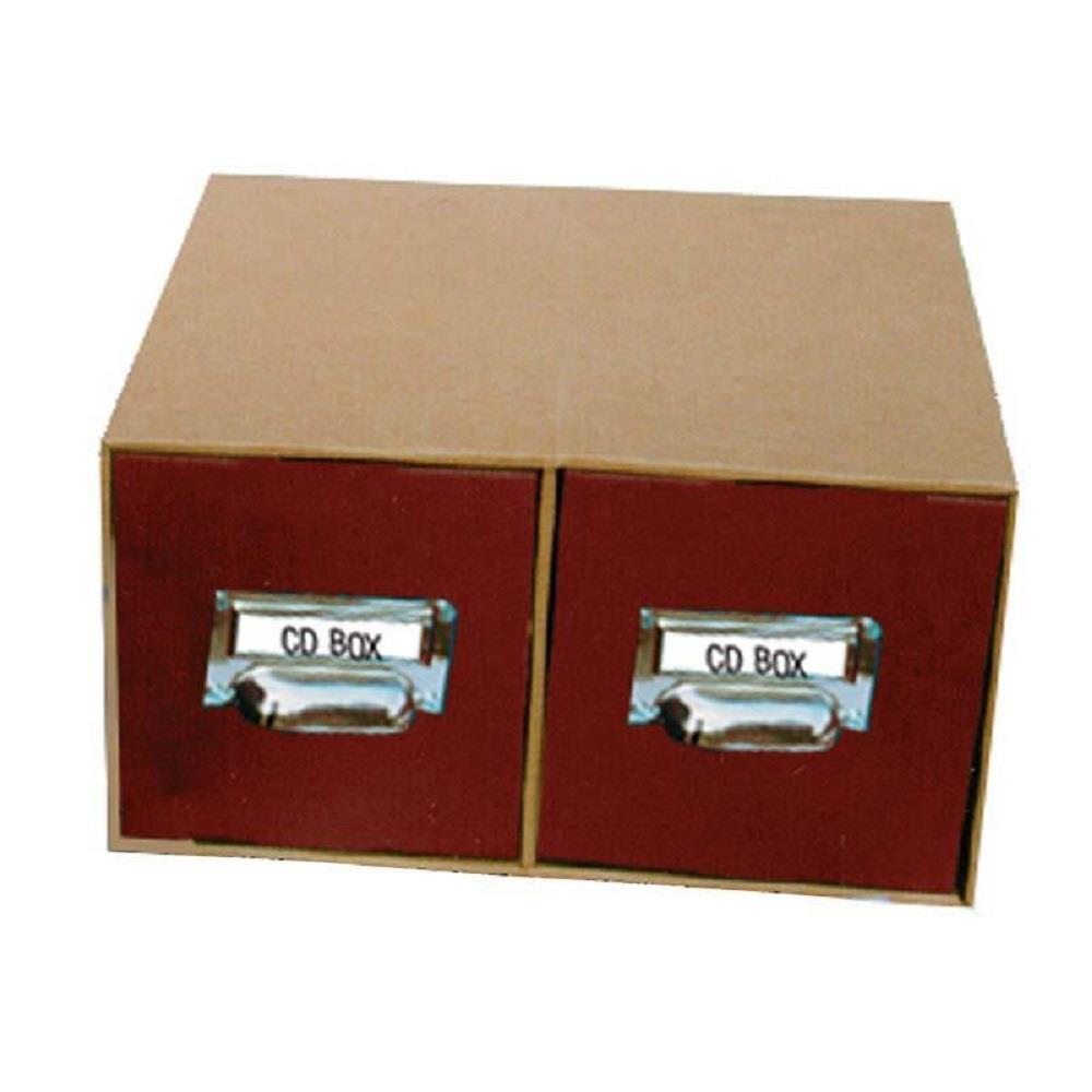Κουτί αποθήκευσης CD-DVD Next 16x30x31 cm με μεταλλική λαβή μπορντώ