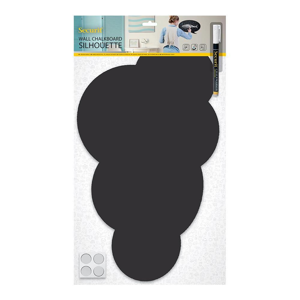 Πίνακας υγρής κιμωλίας Securit 49x30 cm σύννεφο με μαρκαδόρο