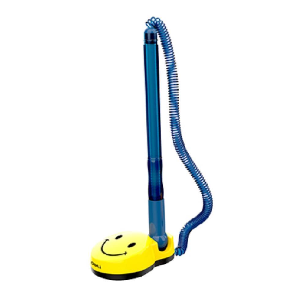 Στυλό γκισέ Deli χαμόγελο μπλε με βάση