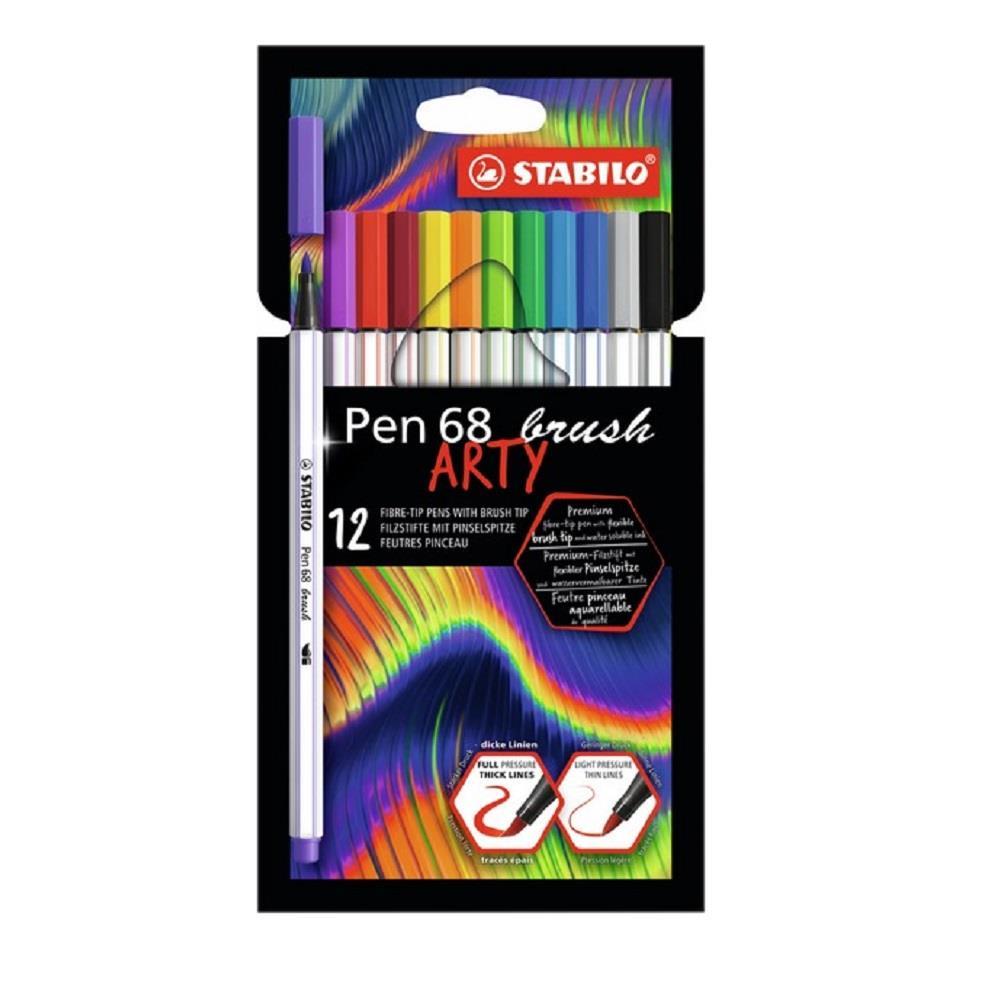 Μαρκαδόροι πινέλο Stabilo arty brush 12 τεμ.